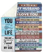 """Never Forget That I Love You - Wife To Husband Sherpa Fleece Blanket - 50"""" x 60"""" thumbnail"""