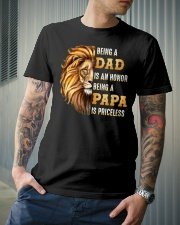Lion Being A Dad Is An Honor A Papa Is Priceless Classic T-Shirt lifestyle-mens-crewneck-front-6