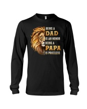 Lion Being A Dad Is An Honor A Papa Is Priceless Long Sleeve Tee thumbnail