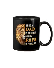 Lion Being A Dad Is An Honor A Papa Is Priceless Mug thumbnail