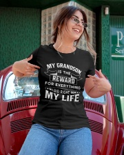 My Grandson Is The Reward For Everything Ladies T-Shirt apparel-ladies-t-shirt-lifestyle-01