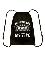 My Grandson Is The Reward For Everything Drawstring Bag thumbnail