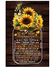I Am Because U Are Sunflower Daughter To Mom Vertical Poster tile