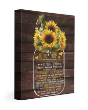 I Am Because U Are Sunflower Daughter To Mom 11x14 Gallery Wrapped Canvas Prints front