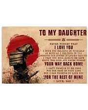 Daughter Samurai Promise To Love You For The Rest 17x11 Poster front