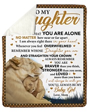 """Never Feel That U Are Alone Lion Mom To Daughter Sherpa Fleece Blanket - 50"""" x 60"""" thumbnail"""