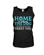 Home Is Where The Dog Runs To The Greet You Unisex Tank thumbnail