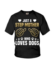 Just A Step Mother Who Loves Dogs Youth T-Shirt thumbnail