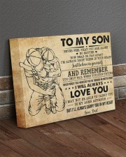 Never Feel That U Are Alone Dad To Son 14x11 Gallery Wrapped Canvas Prints aos-canvas-pgw-14x11-lifestyle-front-10