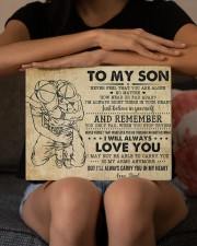 Never Feel That U Are Alone Dad To Son 14x11 Gallery Wrapped Canvas Prints aos-canvas-pgw-14x11-lifestyle-front-22