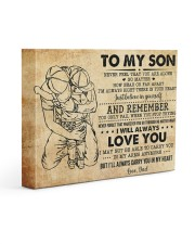 Never Feel That U Are Alone Dad To Son 14x11 Gallery Wrapped Canvas Prints front