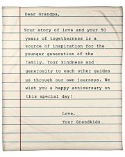 "Your Story Of Love Notebook Grandkids To Grandpa Fleece Blanket - 50"" x 60"" front"