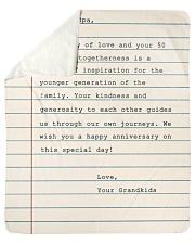 Your Story Of Love Notebook Grandkids To Grandpa Sherpa Fleece Blanket tile