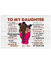 When Life's Troubles Try To ScareU Mom To Daughter Horizontal Poster tile