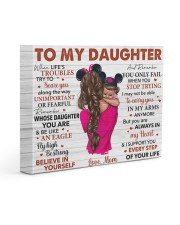 When Life's Troubles Try To ScareU Mom To Daughter 14x11 Gallery Wrapped Canvas Prints front