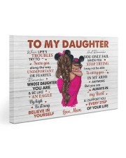When Life's Troubles Try To ScareU Mom To Daughter Gallery Wrapped Canvas Prints tile