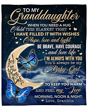 "When U Need A Hug Hold Blanket GM To Granddaughter Fleece Blanket - 50"" x 60"" front"