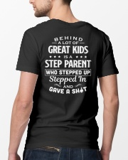 Behind A Lot Of Great Kids Is A Step Parent Classic T-Shirt lifestyle-mens-crewneck-back-5