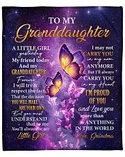 "Butterfly-Im Proud Of You Grandma-To-Granddaughter Fleece Blanket - 50"" x 60"" thumbnail"