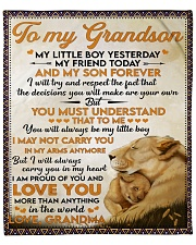 """Little GS Yesterday Friend Today To Grandson Fleece Blanket - 50"""" x 60"""" front"""