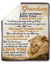 Little GS Yesterday Friend Today To Grandson Sherpa Fleece Blanket tile