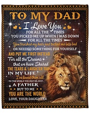 """Lion-I Love U 4 all the time Daughter-To-Dad Fleece Blanket - 50"""" x 60"""" front"""