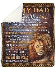 Lion-I Love U 4 all the time Daughter-To-Dad Sherpa Fleece Blanket tile