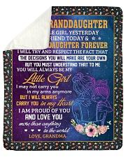 """My Little Girl Yesterday-Grandma To Granddaughter Sherpa Fleece Blanket - 50"""" x 60"""" thumbnail"""