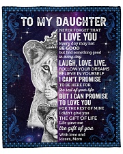 "Never Forget That I Love You Lion Mom To Daughter Fleece Blanket - 50"" x 60"" front"
