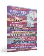Today Is A Good Day - Elephant Mom To Daughter 16x20 Gallery Wrapped Canvas Prints front