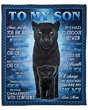 """Never Feel That U Are Alone Panther Mom To Son Fleece Blanket - 50"""" x 60"""" front"""