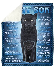 Never Feel That U Are Alone Panther Mom To Son Sherpa Fleece Blanket tile