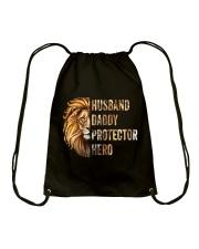 Husband Lion Daddy Protector Hero Drawstring Bag thumbnail