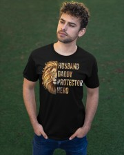 Husband Lion Daddy Protector Hero Classic T-Shirt apparel-classic-tshirt-lifestyle-front-43