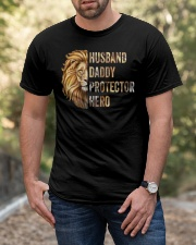 Husband Lion Daddy Protector Hero Classic T-Shirt apparel-classic-tshirt-lifestyle-front-53