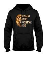 Husband Lion Daddy Protector Hero Hooded Sweatshirt thumbnail