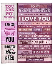 """You Are My Sunshine - Grandma-To-Granddaughter Fleece Blanket - 50"""" x 60"""" front"""