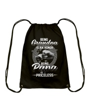 Being Grandpa Is An Honor Being Papa Is Priceless Drawstring Bag thumbnail
