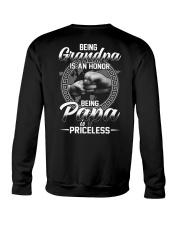 Being Grandpa Is An Honor Being Papa Is Priceless Crewneck Sweatshirt thumbnail