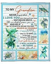 "Never Forget That I Love U-Turtle- GM-To-Grandson Fleece Blanket - 50"" x 60"" front"