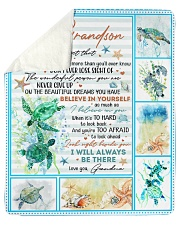 """Never Forget That I Love U-Turtle- GM-To-Grandson Sherpa Fleece Blanket - 50"""" x 60"""" thumbnail"""