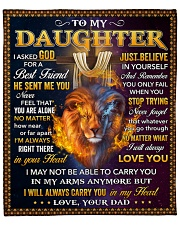 "I Asked God For A Best Friend Lion Dad To Daughter Fleece Blanket - 50"" x 60"" front"