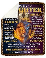 I Asked God For A Best Friend Lion Dad To Daughter Sherpa Fleece Blanket tile