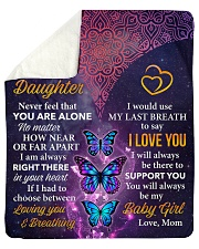 """Never Feel That U Are Alone Mom To Daughter Sherpa Fleece Blanket - 50"""" x 60"""" thumbnail"""