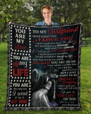 """Never Forget That I Love U Boyfriend To Girlfriend Fleece Blanket - 50"""" x 60"""" aos-coral-fleece-blanket-50x60-lifestyle-front-01a"""