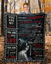 """Never Forget That I Love U Boyfriend To Girlfriend Fleece Blanket - 50"""" x 60"""" aos-coral-fleece-blanket-50x60-lifestyle-front-01b"""