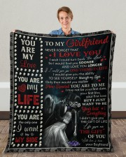 """Never Forget That I Love U Boyfriend To Girlfriend Fleece Blanket - 50"""" x 60"""" aos-coral-fleece-blanket-50x60-lifestyle-front-01c"""