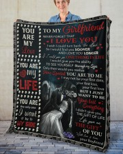 """Never Forget That I Love U Boyfriend To Girlfriend Fleece Blanket - 50"""" x 60"""" aos-coral-fleece-blanket-50x60-lifestyle-front-02"""