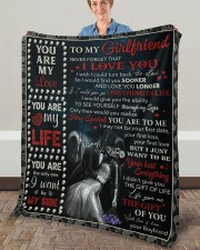 """Never Forget That I Love U Boyfriend To Girlfriend Fleece Blanket - 50"""" x 60"""" aos-coral-fleece-blanket-50x60-lifestyle-front-02a"""