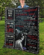 """Never Forget That I Love U Boyfriend To Girlfriend Fleece Blanket - 50"""" x 60"""" aos-coral-fleece-blanket-50x60-lifestyle-front-02b"""